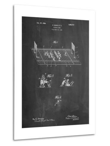 Football Board Game Patent-Cole Borders-Metal Print