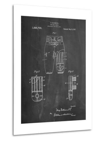 Football Pants Patent Print-Cole Borders-Metal Print
