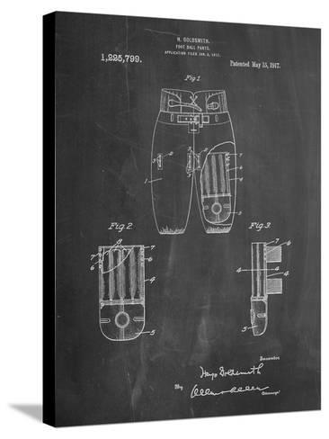 Football Pants Patent Print-Cole Borders-Stretched Canvas Print
