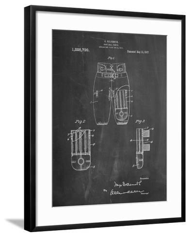 Football Pants Patent Print-Cole Borders-Framed Art Print