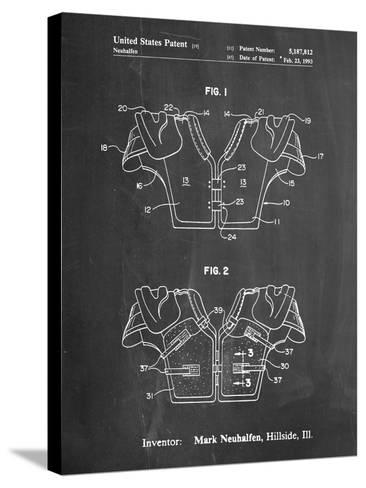 Football Shoulder Pads Patent-Cole Borders-Stretched Canvas Print