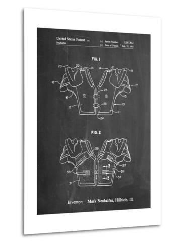 Football Shoulder Pads Patent-Cole Borders-Metal Print
