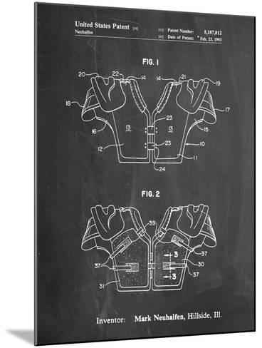Football Shoulder Pads Patent-Cole Borders-Mounted Art Print