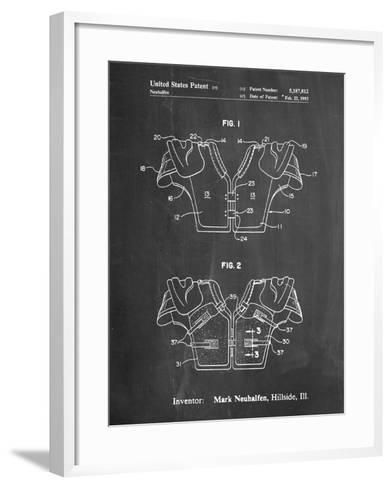 Football Shoulder Pads Patent-Cole Borders-Framed Art Print