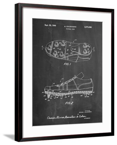 Football Cleat Patent Print-Cole Borders-Framed Art Print