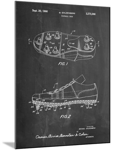 Football Cleat Patent Print-Cole Borders-Mounted Art Print
