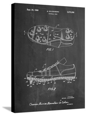 Football Cleat Patent Print-Cole Borders-Stretched Canvas Print