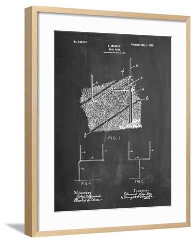 Football Goal Post-Cole Borders-Framed Art Print