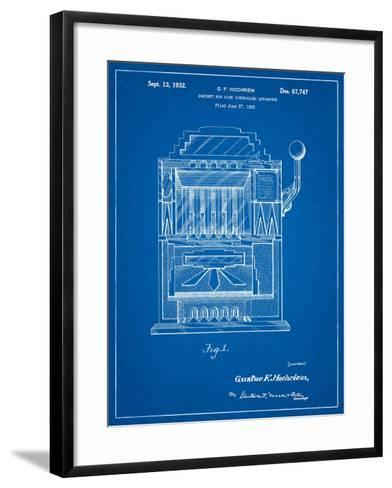 Vintage Slot Machine 1932 Patent-Cole Borders-Framed Art Print