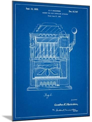 Vintage Slot Machine 1932 Patent-Cole Borders-Mounted Art Print