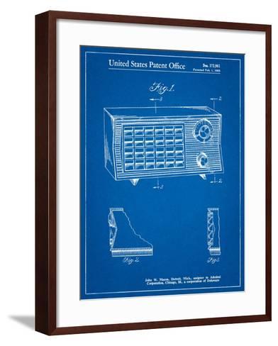 Vintage Table Radio Patent-Cole Borders-Framed Art Print