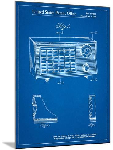 Vintage Table Radio Patent-Cole Borders-Mounted Art Print
