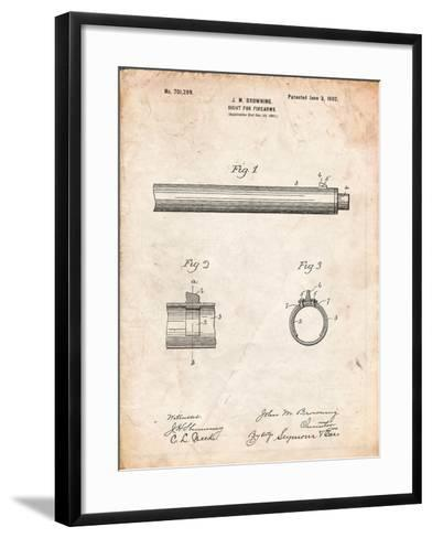Browning Sight for Firearms Patent-Cole Borders-Framed Art Print