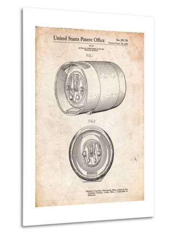 Beer Keg Patent-Cole Borders-Metal Print