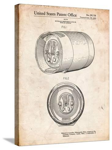 Beer Keg Patent-Cole Borders-Stretched Canvas Print