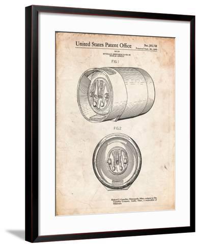 Beer Keg Patent-Cole Borders-Framed Art Print