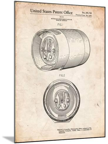 Beer Keg Patent-Cole Borders-Mounted Art Print