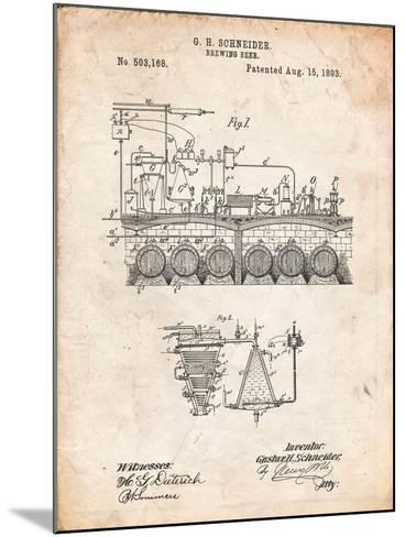 Beer Brewing Science 1893 Patent-Cole Borders-Mounted Art Print