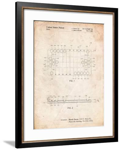 Beer Pong Patent-Cole Borders-Framed Art Print