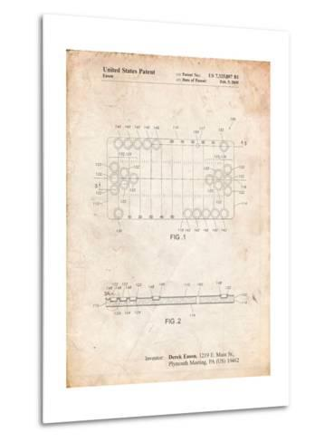 Beer Pong Patent-Cole Borders-Metal Print