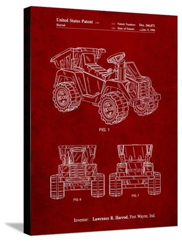 Mattel Kids Dump Truck Patent-Cole Borders-Stretched Canvas Print