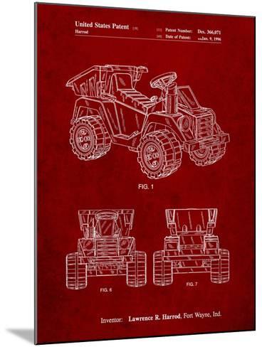 Mattel Kids Dump Truck Patent-Cole Borders-Mounted Art Print