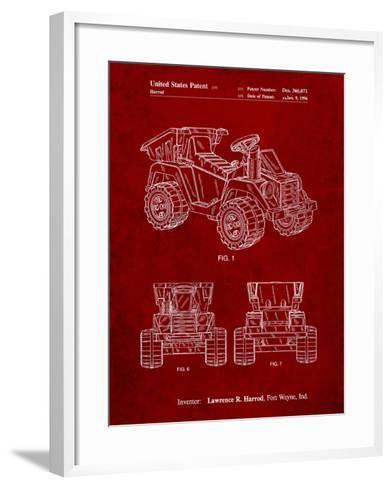 Mattel Kids Dump Truck Patent-Cole Borders-Framed Art Print