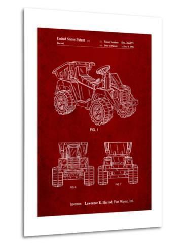 Mattel Kids Dump Truck Patent-Cole Borders-Metal Print