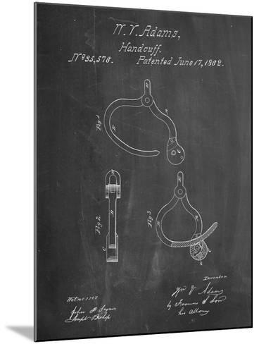 Vintage Police Handcuffs Patent-Cole Borders-Mounted Art Print