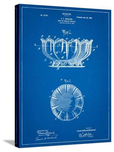 Haviland Decorative Bowl Patent-Cole Borders-Stretched Canvas Print