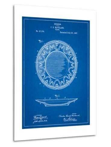 Haviland Dinner Plate Patent-Cole Borders-Metal Print