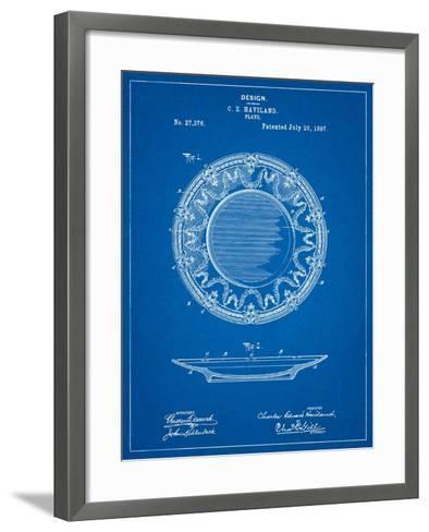 Haviland Dinner Plate Patent-Cole Borders-Framed Art Print