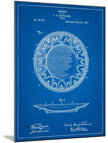 Haviland Dinner Plate Patent-Cole Borders-Mounted Art Print