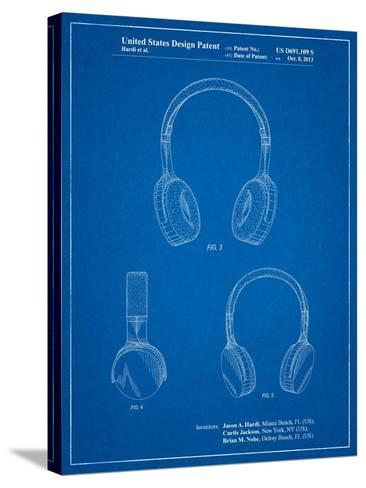 Headphones Patent-Cole Borders-Stretched Canvas Print
