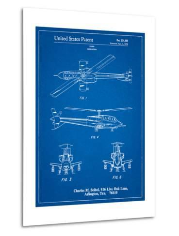 Helicopter Patent Print-Cole Borders-Metal Print