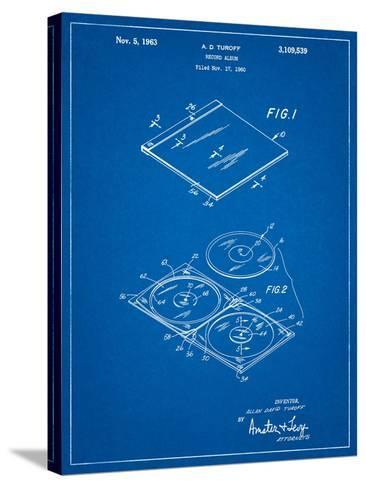Record Album Patent-Cole Borders-Stretched Canvas Print