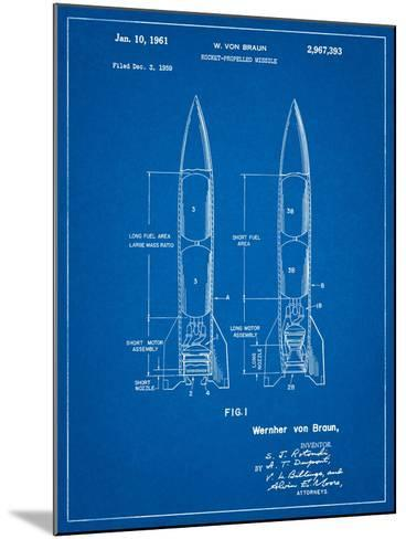 Von Braun Rocket Missile Patent-Cole Borders-Mounted Art Print