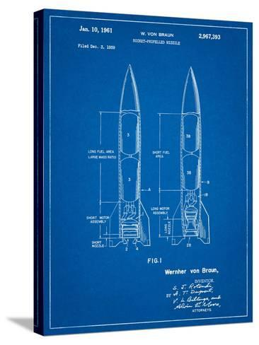 Von Braun Rocket Missile Patent-Cole Borders-Stretched Canvas Print