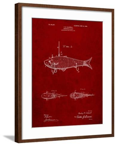 Fishing Artificial Bait-Cole Borders-Framed Art Print