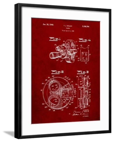 Bell and Howell Color Filter Camera Patent-Cole Borders-Framed Art Print