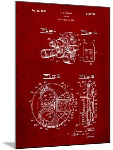 Bell and Howell Color Filter Camera Patent-Cole Borders-Mounted Art Print