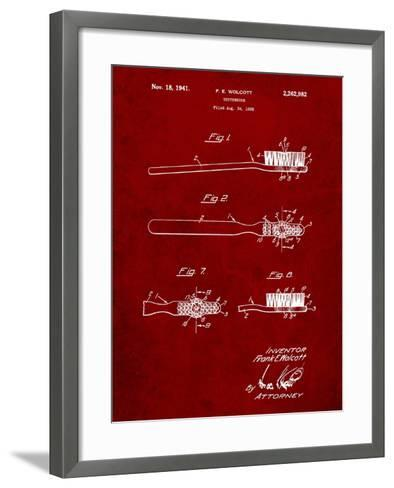 First Toothbrush Patent-Cole Borders-Framed Art Print