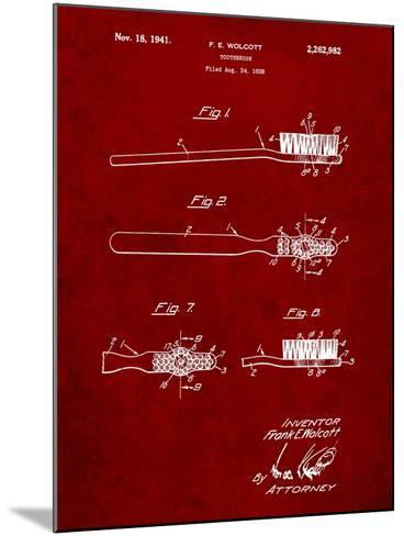 First Toothbrush Patent-Cole Borders-Mounted Art Print