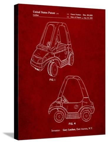Fisher Price Toy Car Patent-Cole Borders-Stretched Canvas Print