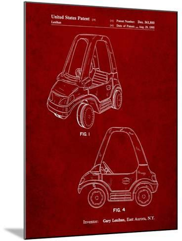 Fisher Price Toy Car Patent-Cole Borders-Mounted Art Print