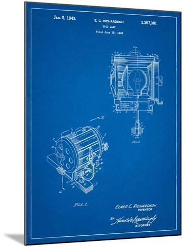 Movie Set Lighting Patent-Cole Borders-Mounted Art Print