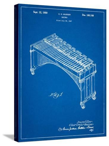 Musser Marimba Patent-Cole Borders-Stretched Canvas Print
