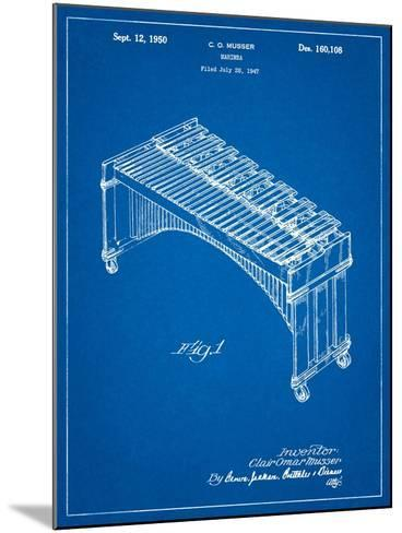 Musser Marimba Patent-Cole Borders-Mounted Art Print