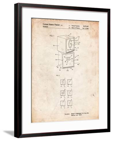 Children's Building Block-Cole Borders-Framed Art Print