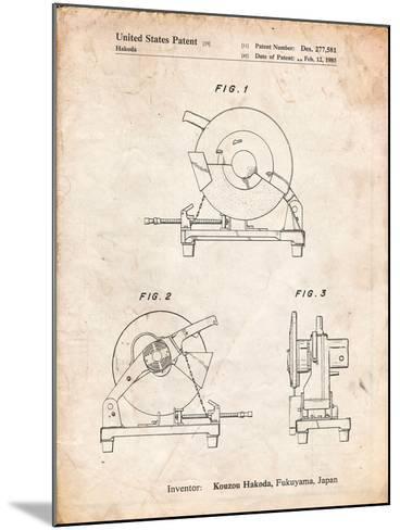 Chop Saw Patent-Cole Borders-Mounted Art Print